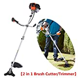42CC 1.68HP 2-Stroke Gas-Powered Air-Cooled Engine String Trimmer 17-Inch (2 in 1 Brush Cutter)