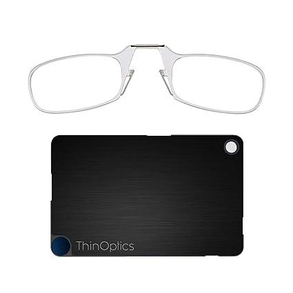 ThinOptics - Gafas de lectura y funda para linterna transparente transparente 2.00 strength