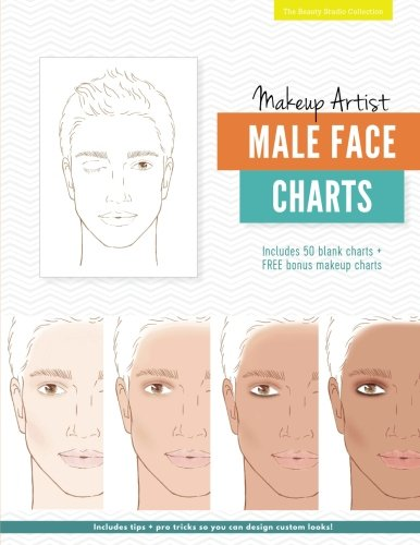 Makeup Artist Male Face Charts (The Beauty Studio - Male Face Chart