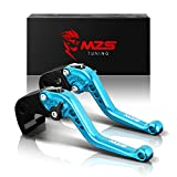 MZS Short Brake Clutch Levers for Yamaha YZF R1 2004-2008/ YZF R6 2005-2016 Blue