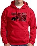 Forget the Heels Princess Wears Wrestling Shoes Hoodie Sweatshirt Small Red