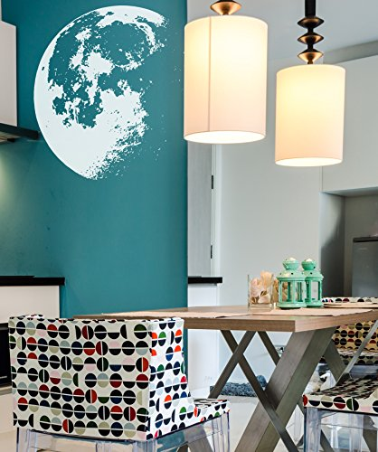 Large Crescent Moon Wall Decal Sticker by Stickerbrand - White color, Large 53in x 48in. #523A Easy to Apply & Removable. by Stickerbrand (Image #5)