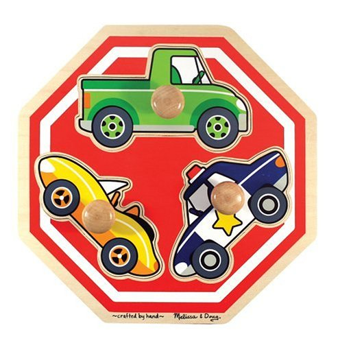 Melissa & Doug Stop Sign (Vehicles) Jumbo Knob -