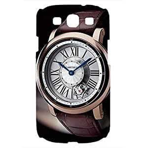 Cartier Watch Back Cover For Samsung Galaxy S3 3D Hard Plastic Case