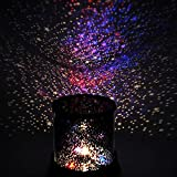 Lunir LED Night Light Star Baby Kids Sleep USB Projector Rotation Colorful Light Lamp Figurine Lights