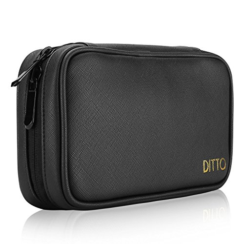Ditto Large Pencil Case, Stationery Pouch Multi-Functional Pencil Pouch Holder Large Capacity Pen Bag Stationery Case with Mesh Pockets for Pen Markers Eraser Texas Instruments TI-84 / Plus -Black by Ditto