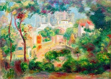 Cuadro de Madera 90 x 70 cm: Gardens of Montmartre de Pierre-Auguste Renoir/akg-Images