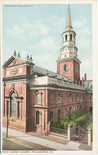 Historic Pictoric Postcard Print | Christ Church, Philadelphia, Pa, 1900 | Vintage Fine Art