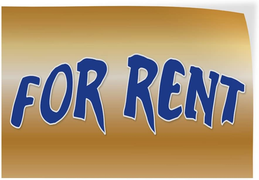 Decal Sticker Multiple Sizes for Rent #1 Style A Business Banners Rental Business Banners Outdoor Store Sign Yellow 69inx46in One Sticker