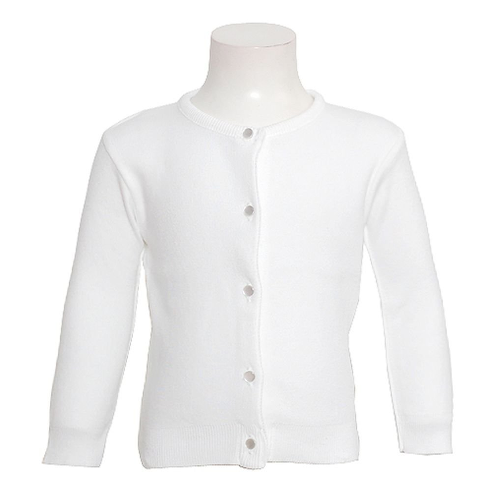 Julius Berger Girls White Button Dress Cardigan Sweater Girls 18M