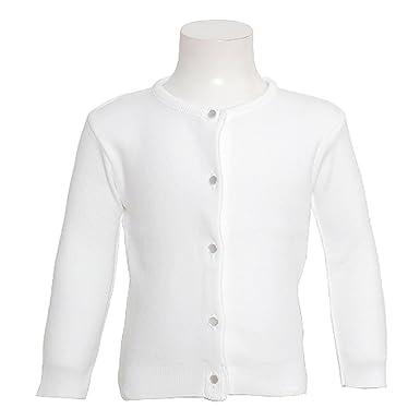 Amazon.com: Julius Berger Girls White Button Dress Cardigan ...