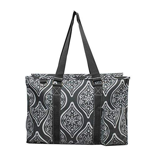 NGIL All Purpose Organizer Medium Utility Tote Bag 2018 Spring Collection (Marquise In Bloom Grey)