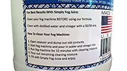 1 Gallon DJ Party Event Lighting Fog Juice for Fog Machines USA MADE - Premium Thick Juice (Does not contain Propylene Glycol)