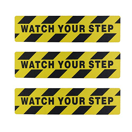 "Kasteco 3 Pack""Watch Your Step"" Printed Anti Slip Tape, 6"" x 24"""