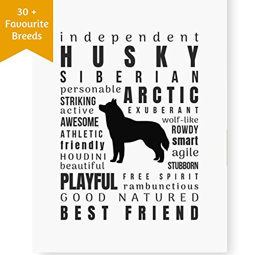 Dragonfly home & gift Dog Décor Husky Wall Art - Quote Print | Pet Memorial Gifts | Dog Mom | New Puppy (8.5x11 Unframed) Keepsake Gifts for Dog Lovers