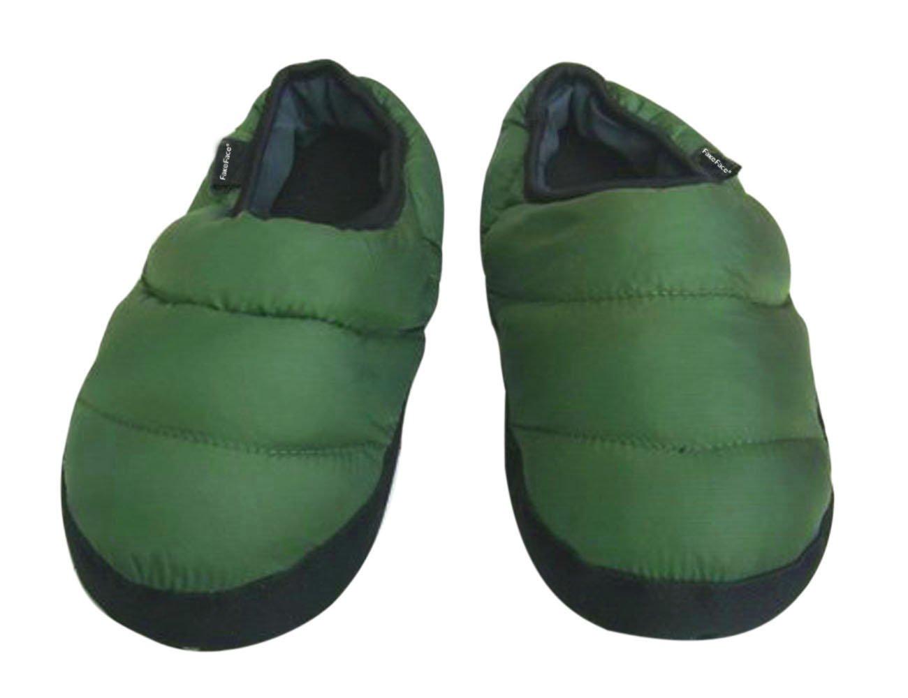 028b0561d748b Homme femme Pantoufles D intérieur Pantoufle Chaleureux Chausson Hiver  Imperméable Antidérapante Chaussures Doux en Peluche Confortable et Léger -  Vert ...