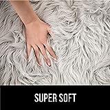Gorilla Grip Premium Faux Fur Area Rug, 5x7, Fluffy