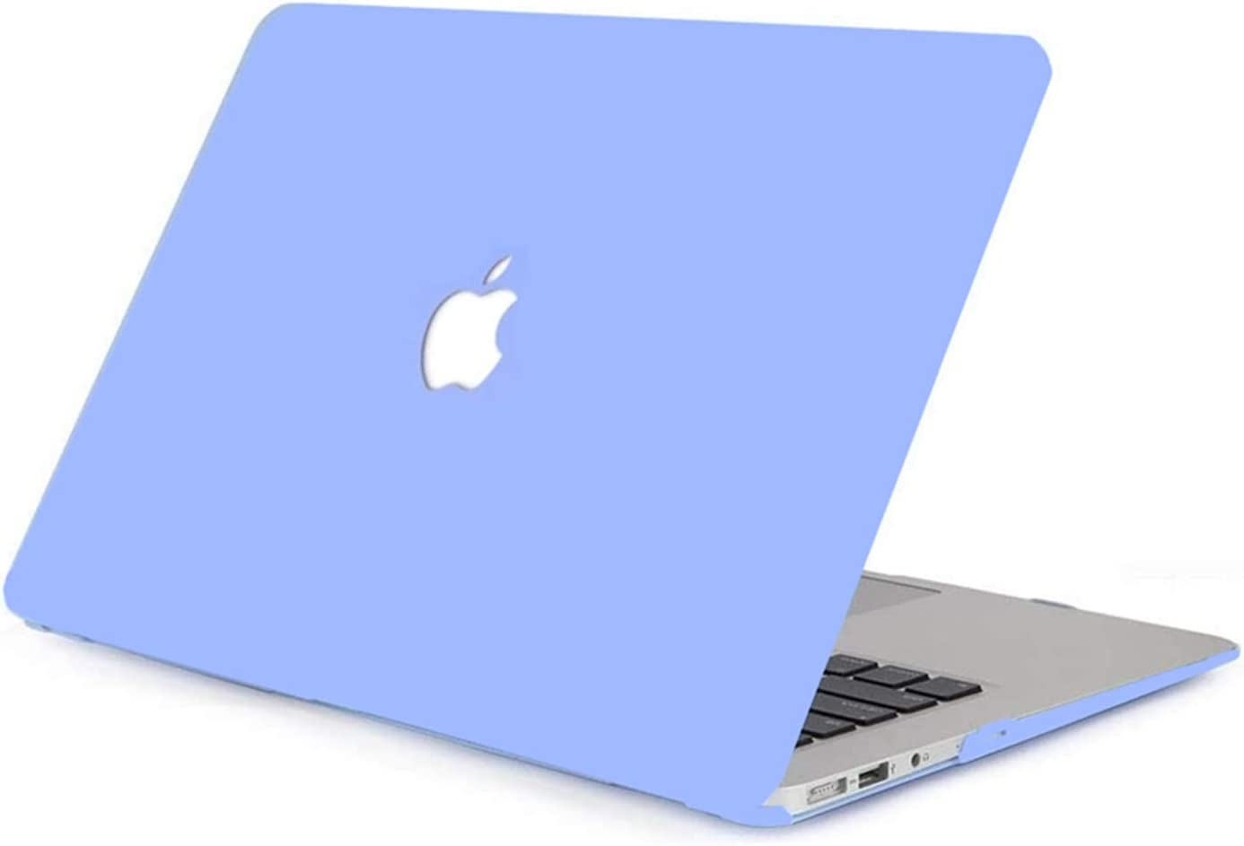 LuvCase Laptop Case Compatible with MacBook Air 13 Inch(2018-2021) A2337 M1/A2179/A1932 Retina Display (Touch ID) Retina DisplayRubberizedPlasticHardShellCover (Serenity Blue)