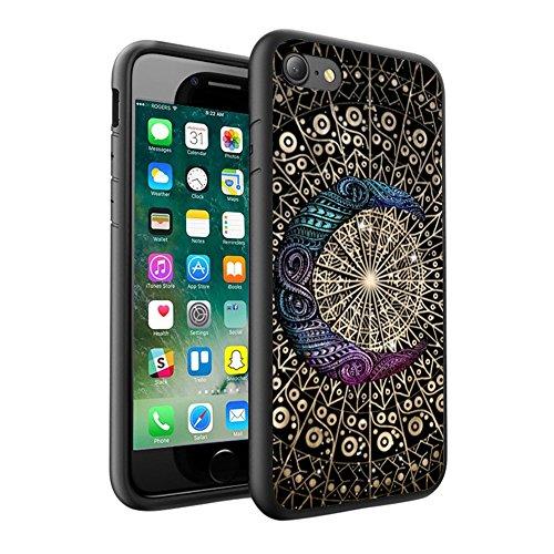 iPhone X Hülle, einzigartige Custom Design Prodective harte zurück dünner dünner Fit PC Bumper Case Kratzfeste Abdeckung für iPhone X - Mandala 0086