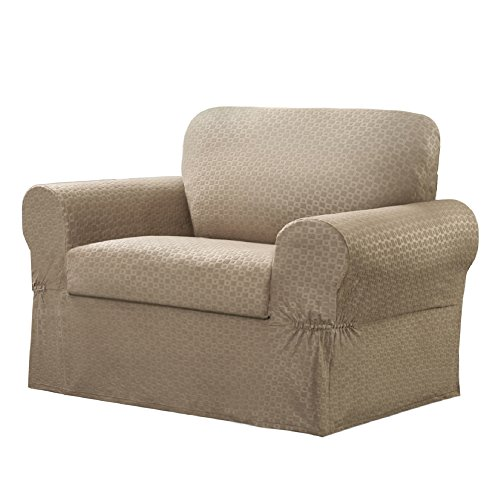 Maytex 2-Piece Conrad Slipcover, Chair, - T-cushion Seat Separate Chair