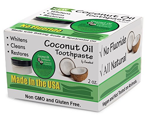 Amazon Com Coconut Oil Teeth Whitening Toothpaste With Baking