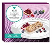 Medi-Weightloss Blueberry Pomegranate Bliss Protein Bar - 100 Calories, High Protein (10g) - For Hunger Control During Diet/Weight Loss - 7 Bars Per Box