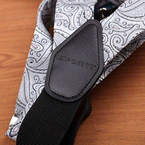 EFBB0033 Dark Orange Patterns Microfiber Y-Back Suspenders Gifts Mens By Epoint