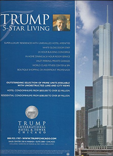 MAGAZINE ADVERTISEMENT For 2006 Trump Hotel & Tower Chicago 5 Star (Chicago Hotel Towers)