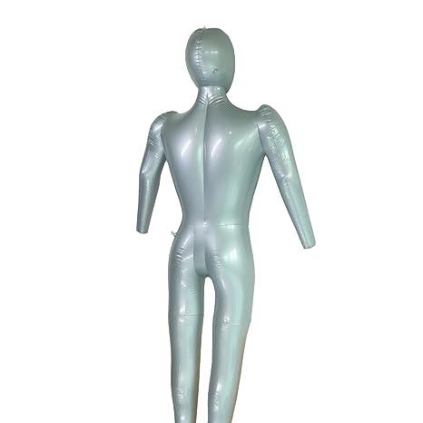 Maniquí hinchable con brazo para hombre, diseño de torso: Amazon ...