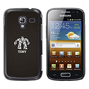 Mr Man Tiny - Metal de aluminio y de plástico duro Caja del teléfono - Negro - Samsung Galaxy Ace 2