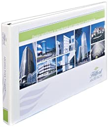 Avery Heavy-Duty View Binder, White with 2-Inch One Touch EZD Rings, 11 x 17 Inches, 1 Binder, White (72122)