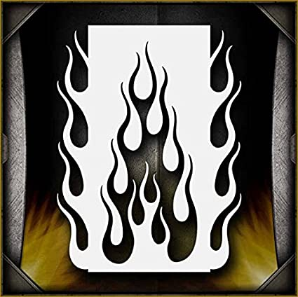 Flames 11 AirSick Airbrush Stencil Art Design Template - Reusable Spray  Painting Patterns for Cars, Motorcycle, Tatoos, etc