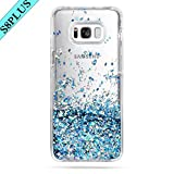 Galaxy S8 Plus Case, Caka Galaxy S8 Plus Glitter Case Luxury Fashion Bling Flowing Liquid Floating Sparkle Glitter TPU Bumper Case for Samsung Galaxy S8 Plus - (Blue)