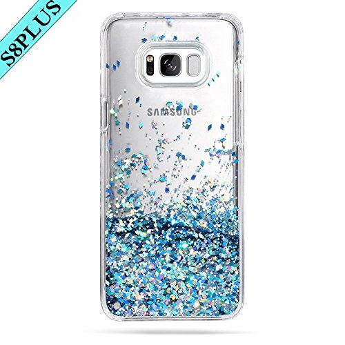 Galaxy S8 Plus Case, Caka Galaxy S8 Plus Glitter Case Luxury Fashion Bling Flowing Liquid Floating Sparkle Glitter Soft TPU Case for Samsung Galaxy S8 Plus (Blue) -