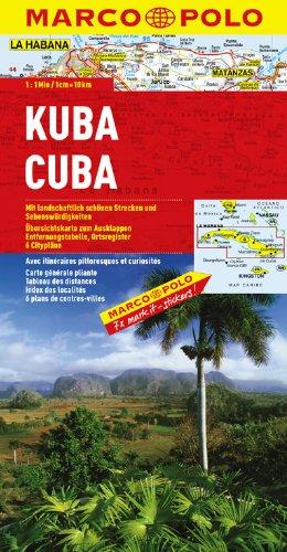 MARCO POLO Kontinentalkarte Kuba 1 1 Mio.  MARCO POLO Länderkarten