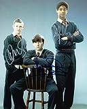 DEVON MURRAY, MATTHEW LEWIS and ALFIE ENOCH as Seamus, Neville and Dean
