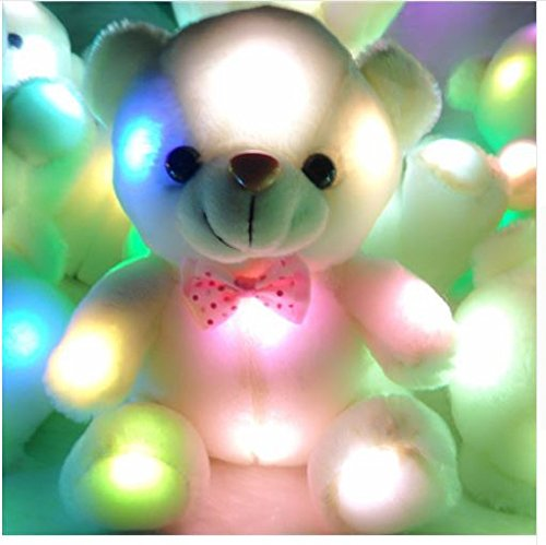 Kids Favorites!New Arrival 20cm Lovely Soft LED Colorful Glowing Bear Stuffed Plush Toy Gifts For Birthday
