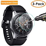 QIBOX Screen Protector Compatible Samsung Galaxy Watch 46mm & Gear S3, Waterproof Tempered Glass Screen Protector Compatible Samsung Gear S3 & Galaxy Watch 46mm 3-Pack[Full Coverage/Scratch Resistant]