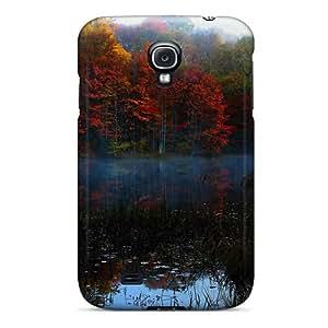 For Galaxy S4 Premium Tpu Case Cover Autumn Fog Protective Case