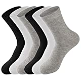 LifeWheel Men Antibacterial Breathable Cotton Casual Athletic Socks 6 Pair