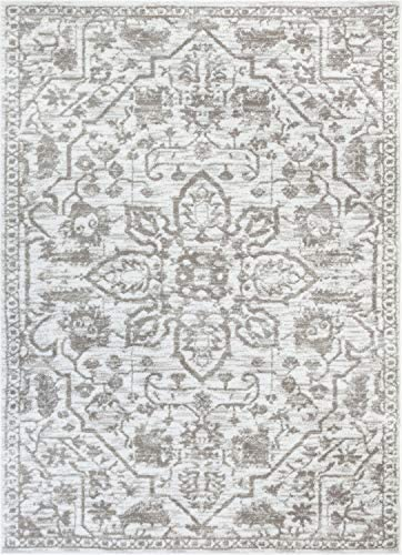 Well Woven Dazzle DISA Cream Vintage Bohemian Oriental Distressed 5'3″ x 7'3″ Area Rug