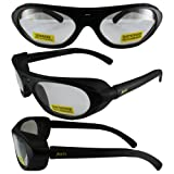 RAWHIDECL Global Vision Eyewear Rawhide Clear Lens ANSI Z87.1+ Eye Protection Including Side Buffers