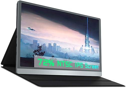 Monitor portátil de 14,1 Pulgadas IPS, Pantalla Portátil 72% NTSC 1920x1080P, Doble Tipo C, HDMI, para Xbox PS3 PS4 Switch Ordenador Portátil Celular CCTV: Amazon.es: Electrónica
