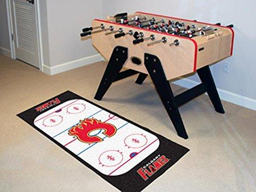 Calgary Flames Rink Floor Mat (Wholesale FanMats Calgary Flames Rink Runner 30x72, [NHL, Calgary)