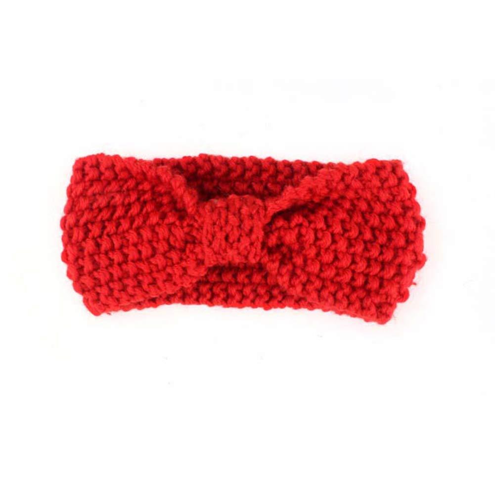 YUnnuopromi pour Fille Bandeaux, Lovely Baby Enfants Bowknot en Tricot Bandeau Headwear Photo Props #2