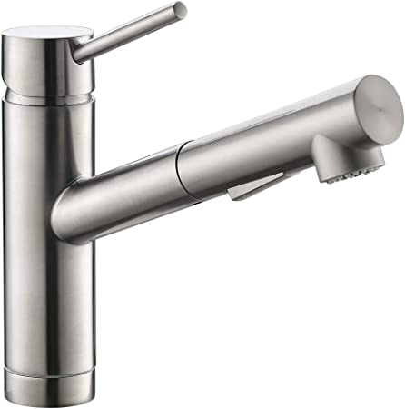 Pull Out Kitchen Sink Faucet In Brush Nickel Cupc Certified Sink