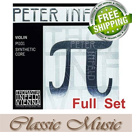 Classic Music Thomastik Peter Infeld (PI101)Violin Strings Full Set 4/4 Ball End (Pi Violin Strings)