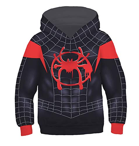 - Dark Eyes 3D Kids Hoodie Jacket Superhero Halloween Cosplay Costume Black