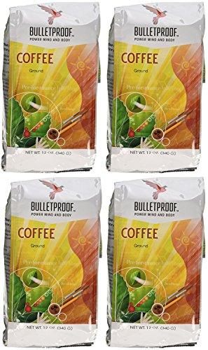 Bulletproof Ground Coffee, 12 Oz (4 Pack)