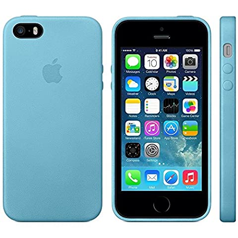 Apple Authentic Leather Case for Apple iPhone 5/5s/SE - Blue (Apps Iphone 5s)